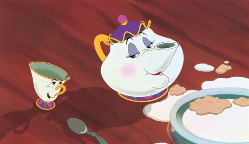 Disney: Chip and Mrs. Potts.