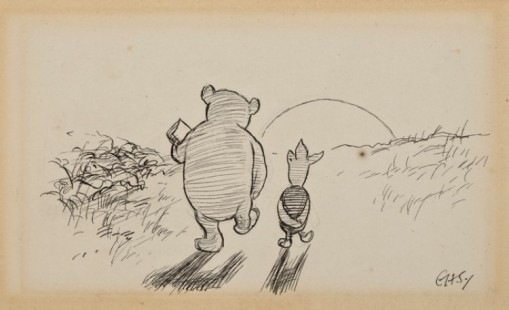 Winnie the Pooh and Piglet, his bestest friend