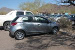 Our rather delightful Mazda 2 hire car