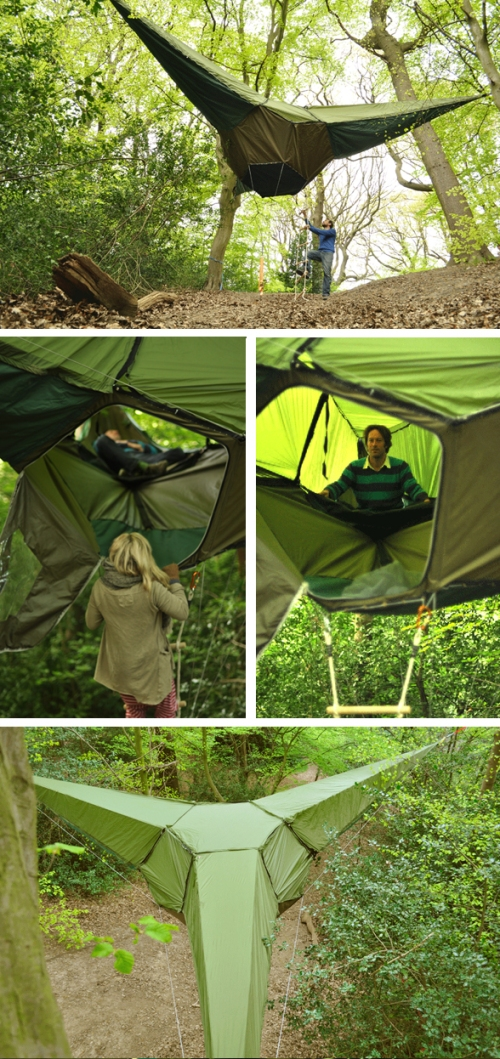 "Cool Thing We Want #336: This Three Pointed Treehouse Tent By UK Company ""Tentsile"" : Scout Magazine"