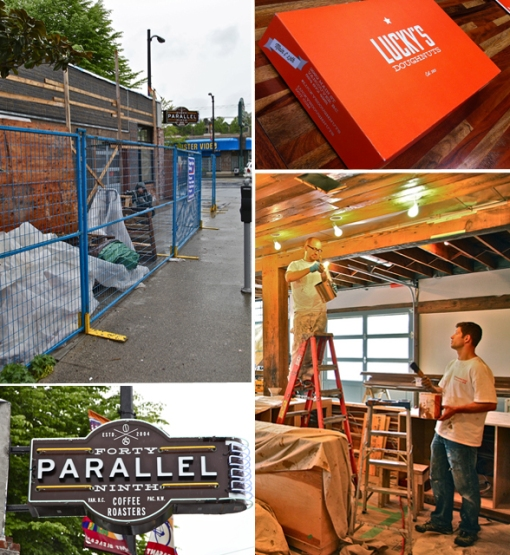 DINER: 49th Parallel Coffee Roasters & Lucky's Doughnuts Opening At Main & 13th : Scout Magazine