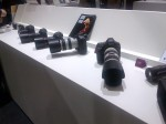 The range of Canon cameras was a popular stop once the show opened in the morning.
