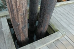 Pilings to stop the dock floating away