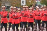 The RCMP were resplendent in their serge.