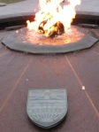 The Centennial Flame and the shield of BC