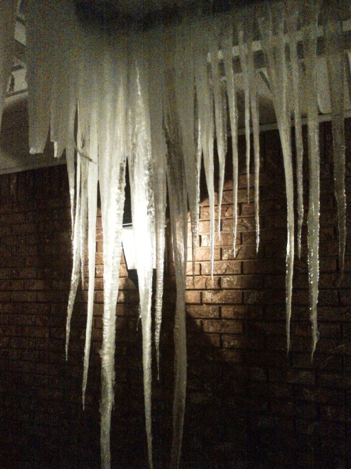 Now THAT's an icicle!