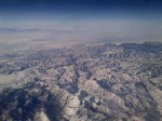 Even at this altitude I was amazed to see the tell-tale straight lines of Man's impact on this remote area