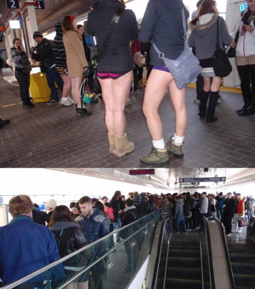 Global: 4th annual 'No Pants Day' on the SkyTrain  Read it on Global News: Global BC | 4th annual 'No Pants Day' on the SkyTrain