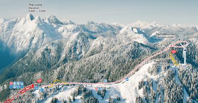 SnowshowGrind Mountain Run 2013 route
