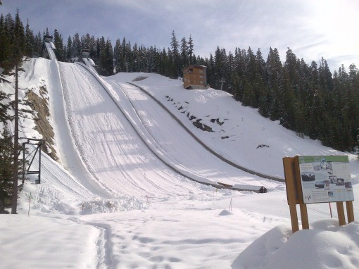 Callaghan Valley: Olympic ski jumps.