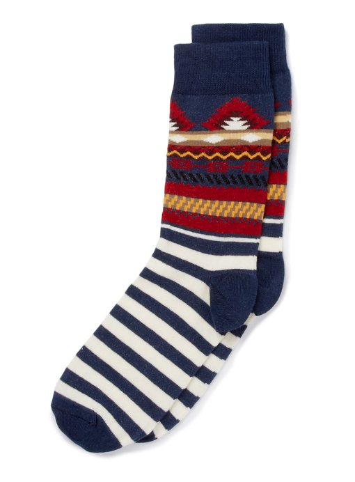source: TOPMAN - Aztec and stripe socks