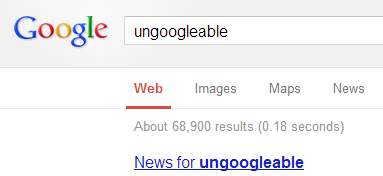 Count of ungoogleable hits on 26th March 2013