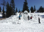 Easter snow sculptures under way
