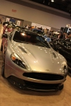Aston Martin Vanquish in Skyfall Silver.