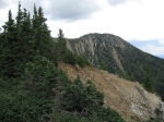 Still on the main Heather Trail, but there's no mistaking the ridge up to the peak of First Brother