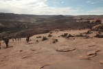 The route back down from Delicate Arch