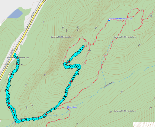 Garmin MapSource: Trail to First Peak