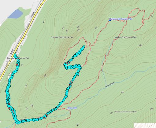 Garmin MapSource: Trail to First Peak