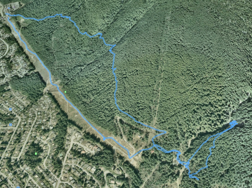 Google Earth: Mosquito Creek from Grouse Car-park