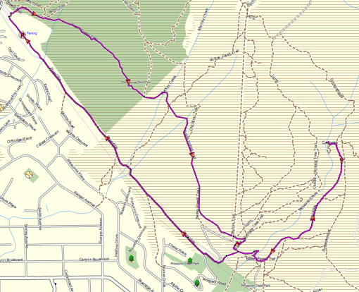 Mosquito Creek route