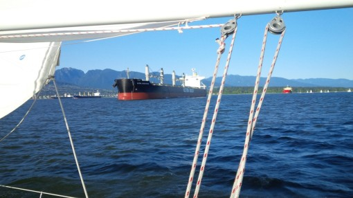 Freighter and North Shore Mountains