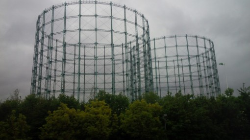 Hotel view - gasometers