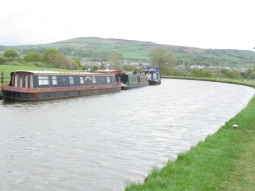 Leeds-Liverpool canal with Ilkley Moor in the background