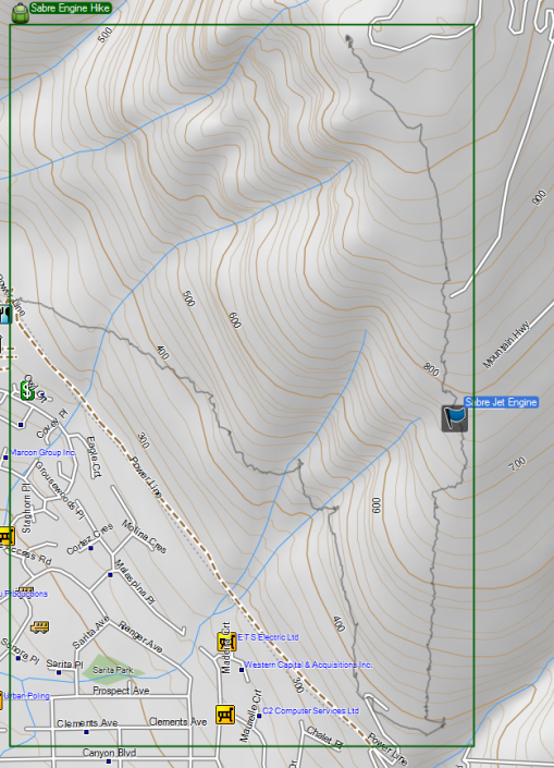 Topo map of the BP Trail/Skyline Trail