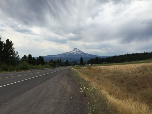 Threatening clouds over Mt. Hood