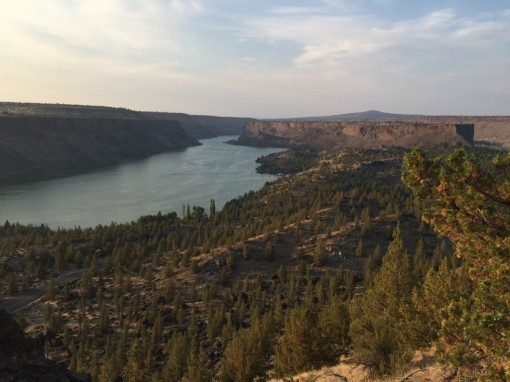 Billy Chinook Lake from the top of the plateau