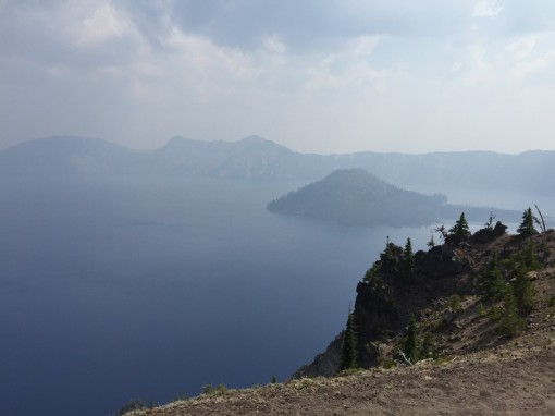 First view of Crater Lake... smoky!