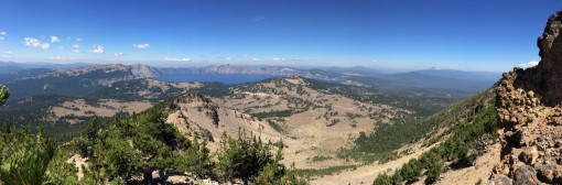 Panorama of the jaw-dropping beauty of Crater Lake