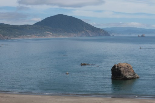 Humbug Mountain from Port Orford to the north