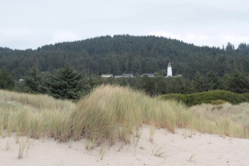 Umpqua River lighthouse from the beach