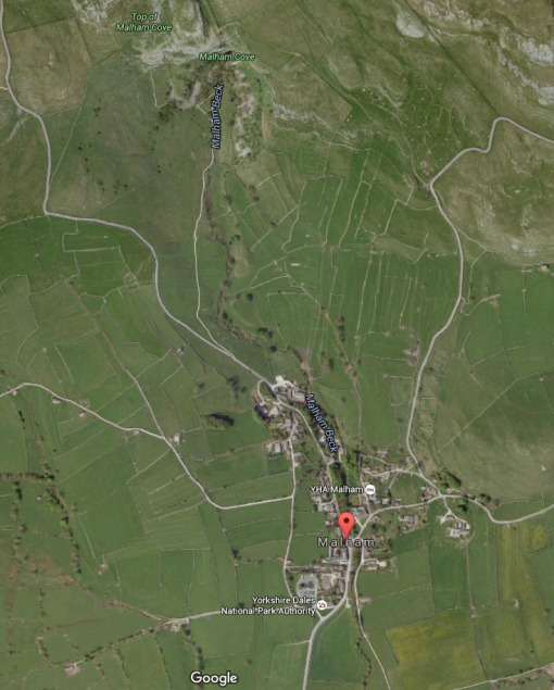Google Maps: Malham, Yorkshire