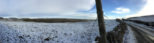 Panorama back towards Malham from up on the moor