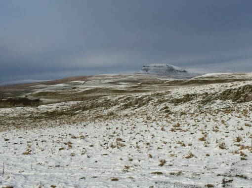 Pen-y-ghent looking as magnificent as ever it did.
