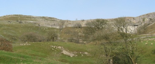 Malham Cove from the start of the path.
