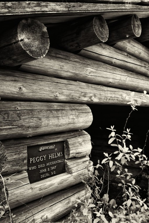 In loving memory Peggy Helms who died accidentally June 2, 1987 Delta BC.